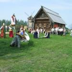 Выступление фольклорных ансамблей