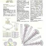 Схема манишки крючком