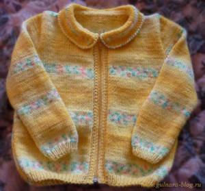 """Кофточка на молнии (пряжа Yarn Art """"Baby color"""")"""