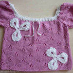 Кофточка спицами (пряжа Yarn Art Jeans (перед))