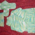 """Свитер, шапка, шарф (пряжа Vita """"Baby Print"""")"""