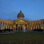 Казанский Собор ночью