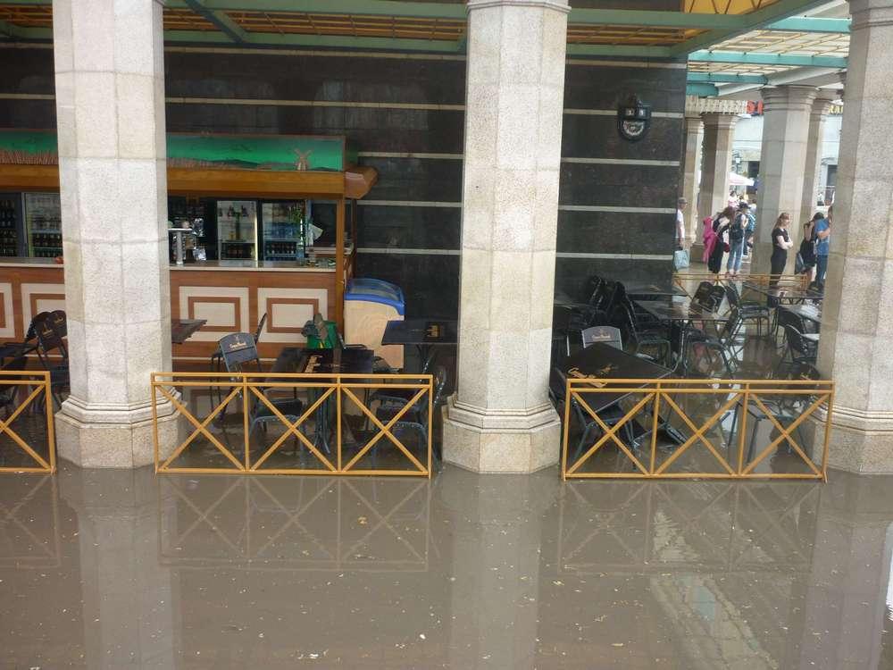 Кафе в Казани после дождя