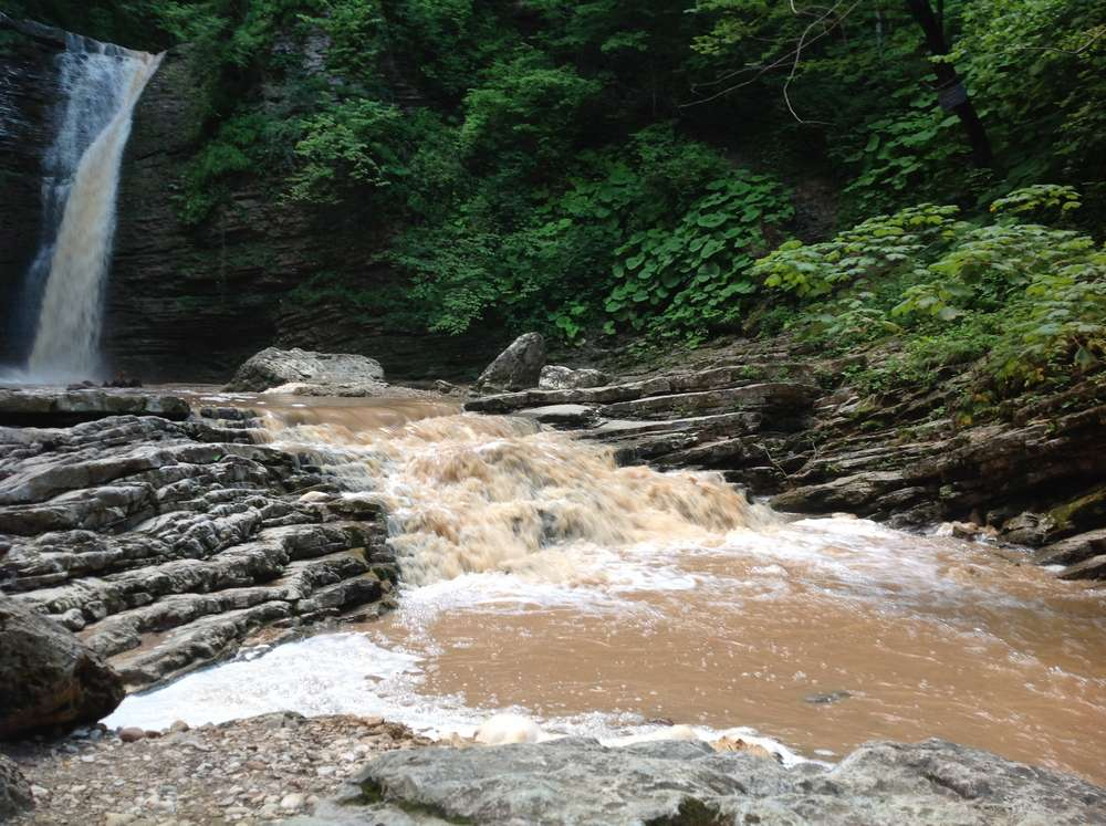 Водопады Руфабго в Адыгее