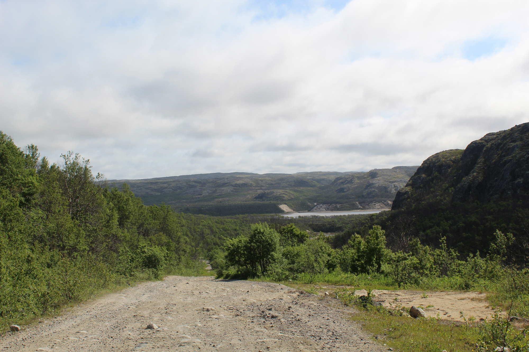 Около реки Титовка Мурманская область