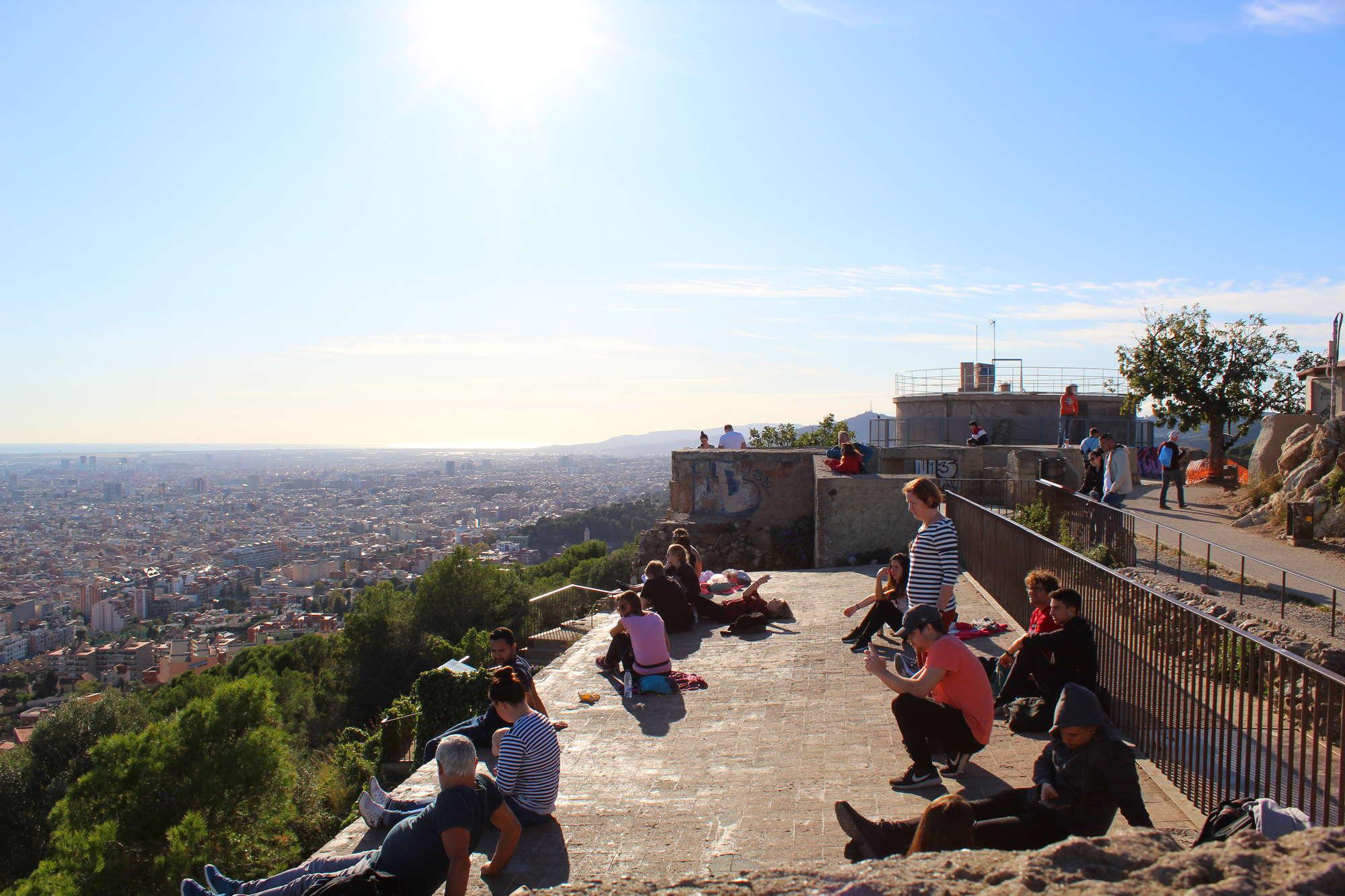 Барселона с бункера Эль-Кармель