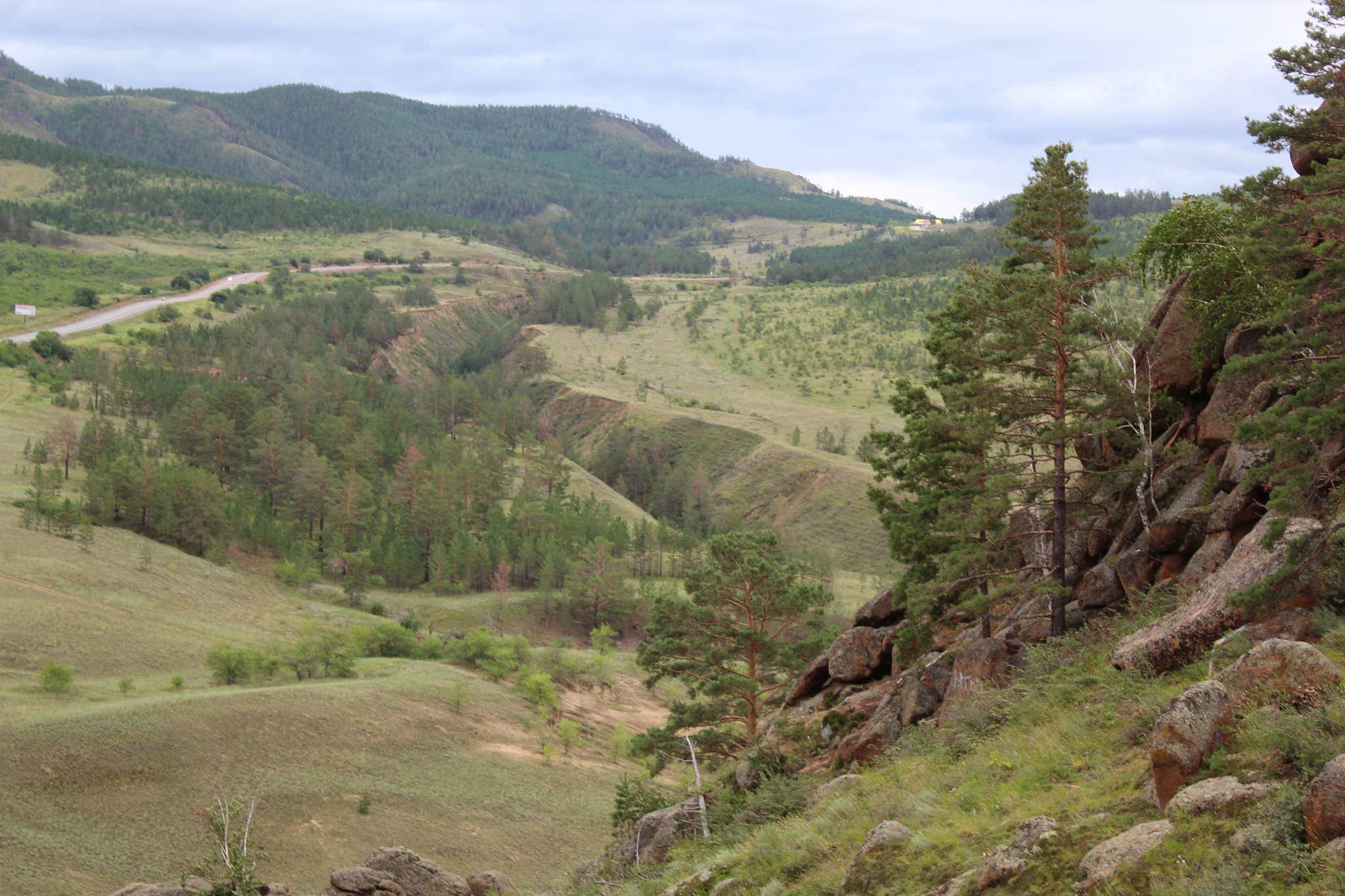 Гора омулевая, вид на Селенгу